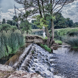 by Roy Branford - Nature Up Close Water ( water, countryside, weir )