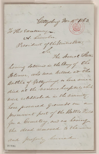 Lincoln's formal invitation, Library of Congress