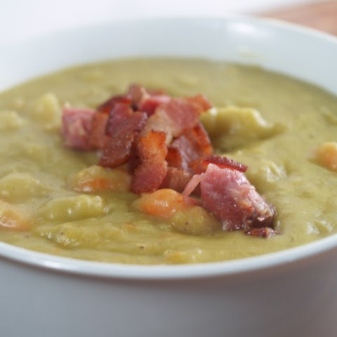 Pressure Cooker Golden Split Pea Soup