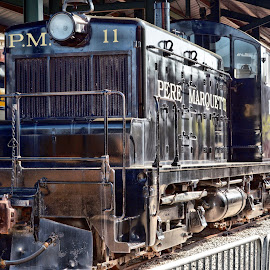 Freight Train by Michael Lopes - Transportation Trains ( b&o railroad museum, freight train, train engine, old train )