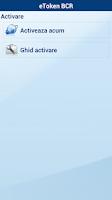 Screenshot of eTokenBCR