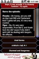 Screenshot of Charmed - QuoteTrivia
