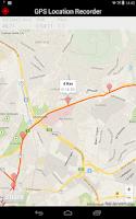 Screenshot of GPS Distance Location Tracker