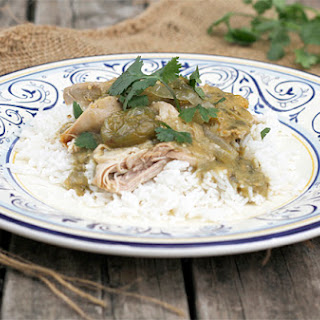 Slow Cooked Chicken in a Tomatillo Salsa Verde
