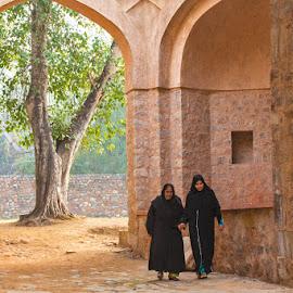 Att the Tomb of Humayun - World Heritage Site by Richard Duerksen - Buildings & Architecture Public & Historical ( humayun's tomb, world heritage site, delhi )