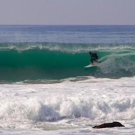 Commited by Patrick Flood - Sports & Fitness Surfing ( canon, south laguna, photosbyflood, southern california, surfing, california, salt creek, barrel, left coast )