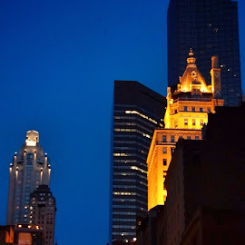 by Jose Figueiredo - City,  Street & Park  Skylines ( buildings, night, new york city )