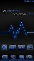 Screenshot of Serenity Launcher Theme Blue