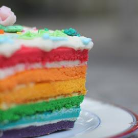 rainbow cake by Edy Suseno - Food & Drink Plated Food ( cake, cakes, food, rainbow )