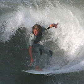 Out of the Curl by William Graf - Sports & Fitness Surfing ( surfing, surfer, surf, hb, huntington beach )