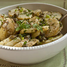 Serious Salads: Patricia Wells's Warm Potato Salad with Capers, Scallions & Mint