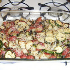 Roasted Garden Harvest Casserole With Red Potatoes