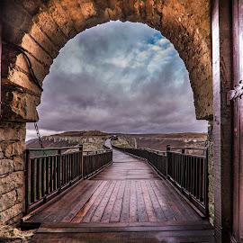 Bridge by Ева Йорданова - Buildings & Architecture Bridges & Suspended Structures ( clouds, autumn, castle, bridge, rain,  )