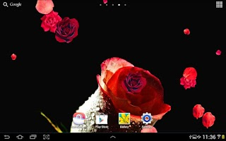 Screenshot of Roses Live Wallpaper