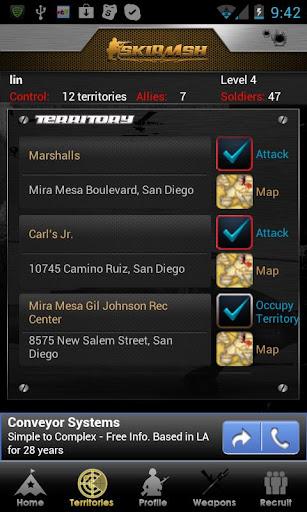 Skirmsh [GPS Game] FREE