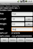 Screenshot of Fishing Diary