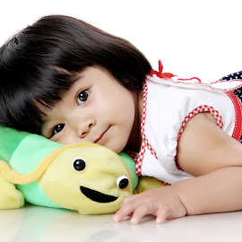 sleep with turtle by Alexander Tiksna Febriasto - Babies & Children Child Portraits