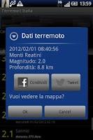 Screenshot of Terremoti Italia No Banner