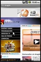 Screenshot of TV Aragón