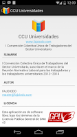 Screenshot of CCU Universidades