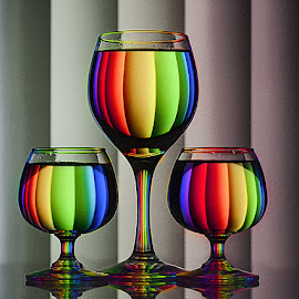 Colors of Rainbow by Rakesh Syal - Artistic Objects Glass (  )