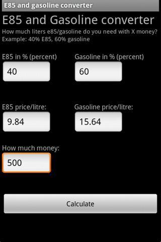 E85 Gasoline helper