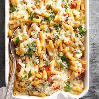 Make-Ahead Baked Ziti with Three Cheeses