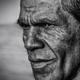Fisherman by MaSs Balasooriya - People Portraits of Men ( mobilography, phone, black and white, fish, men, bnw, fisherman, feelings, man )