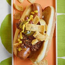 Texas Corn Dogs: Chili-Topped Frito Dogs