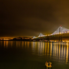 Bay Bridge, SFO, CA, USA by Vinu Ganesh Janakiraman - Buildings & Architecture Bridges & Suspended Structures ( sfo, bay bridge,  )