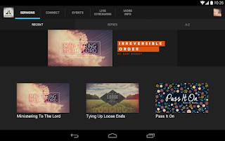 Screenshot of Evangel Temple Church App
