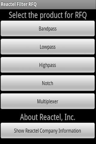【免費生產應用App】Reactel Filter RFQ-APP點子