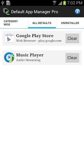 Default App Manager Pro - screenshot