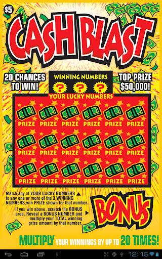 CASH BLAST - Lotto Video Card