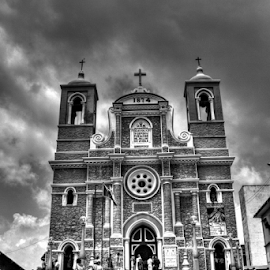 Galle Church  by Upul.C. Dayawansa - Buildings & Architecture Public & Historical ( building, church, black and white, architecture, travel )