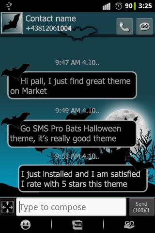 Halloween theme for GO SMS Pro
