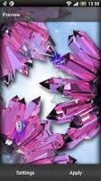 Screenshot of Crystals Live Wallpaper