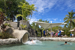 Kids waterslide at Radisson Fiji