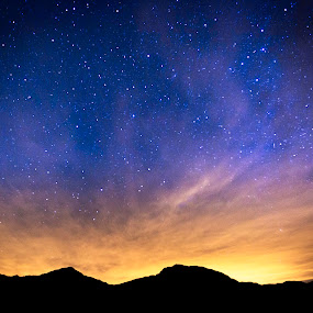 by Clifford Swall - Landscapes Starscapes ( mountains, silhouette, stars, nighttime, landscape, galaxy, milky way )