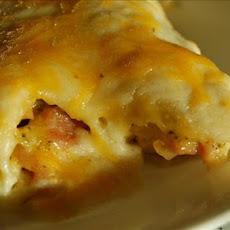 Broccoli, Ham and Cheese Manicotti