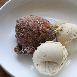 Apple Fritters and Bourbon Ice Cream (for real)