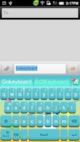 Screenshot of GO Keyboard Sunshine theme