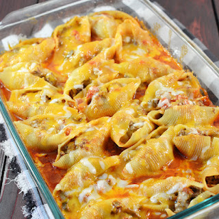Stuffed Shells Ground Beef Cream Cheese Recipes