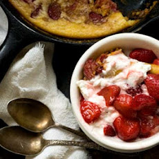 Strawberry spoon bread (adapted from Lady Bird Johnson's spoon bread recipe)