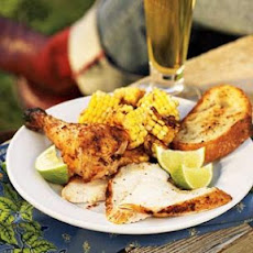 Chili-Lime Chicken with Corn Wagon Wheels