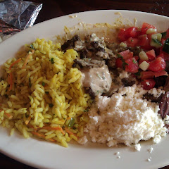 plate combo with a pita from Roses Wheat free bakery!