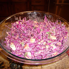 Crunchy Red Cabbage Slaw Salad