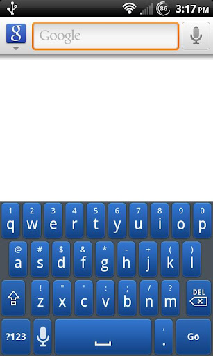 Blue Galaxy Keyboard Skin