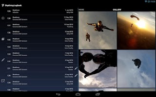 Screenshot of Skydiving Logbook