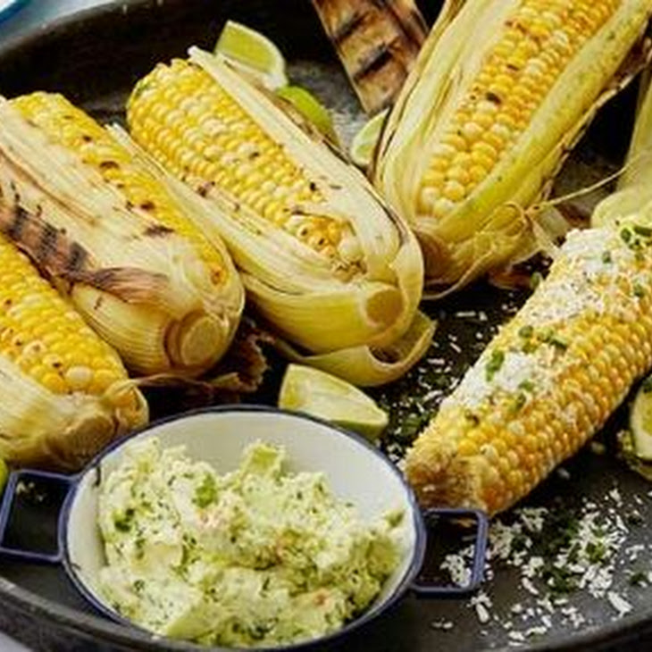 Grilled Corn On The Cob With Garlic Butter Fresh Lime And | Share The ...